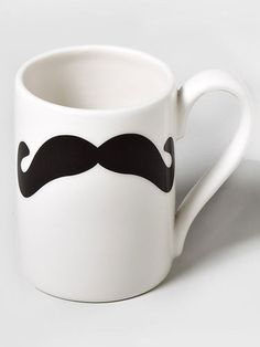 Whether it's Movember or December, she'll love this trendy mustache mug from Claire's. ($8.50) #giftideas #giftsfortweens #stockingstuffers