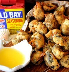 I need to try this. Soon. Crunchy and perfectly seasoned 'Popcorn' oysters!