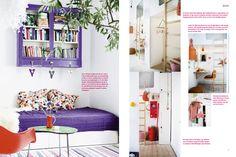 purple bed & shelf