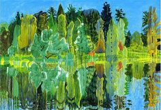 Adrian Berg (UK 1929-2011)Stourhead, 30 June 2000http://adrianberg.com/