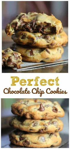 Perfect Chocolate Chip Cookies These perfect cookies are buttery, chewy, thick and chocked full of rich, semi-sweet chocolate chips. - Perfect Chocolate Chip Cookies – The Baking ChocolaTess Perfect Chocolate Chip Cookies, Chocolate Cookie Recipes, Semi Sweet Chocolate Chips, Easy Cookie Recipes, Sweet Recipes, Chocolate Chocolate, Chocolate Frosting, Chocolate Lasagna, Cocoa Recipes