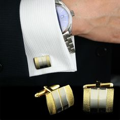 Matte Gold Plated Cuff Links