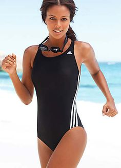 info for 30c0f 513a9 adidas Performance Black Swimsuit £25.00  Monochrome Adidas Performance, One  Piece Swimsuit, Black