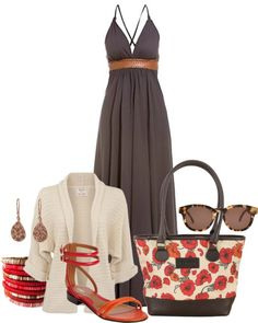 """""""Brown and red and cream"""" by i-dream-of-jeans ❤ liked on Polyvore"""