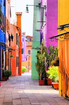 Burano island, Venice,Italy