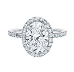 Oval Micropavé Diamond Engagement Ring