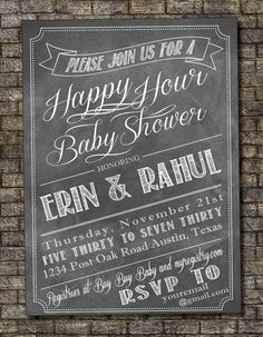 Beer and Diaper Party Invitation Baby by PurplelephantDesigns