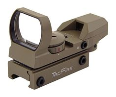 TacFire Holographic 4 Multi-Reticles Tactical Dual IlluminatedRed/Green Reflex Sight, Flat Dark Earth