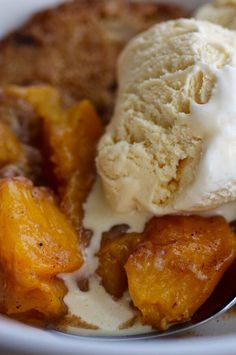 """Best Peach Cobbler Ever 