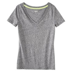 Mossimo Supply Co. Juniors Textured V-Neck Tee - Assorted Color