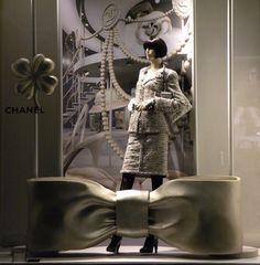 """CHANEL,Via Sant'Andrea, Milan, Italy,""""Put a bow on it"""", pinned by Ton van der Veer"""