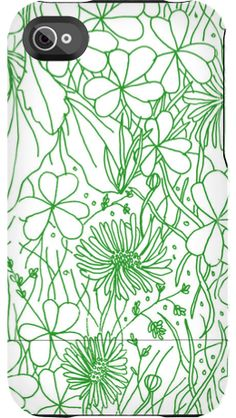 """""""Clovergrass"""" by Jill Bliss for the iPhone 4/4S Capsule"""