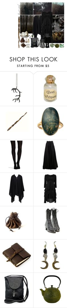 """""""Forest witch"""" by faerie-girl ❤ liked on Polyvore featuring Justine Brooks, Dollhouse, C.R.A.F.T., Ash, SPANX, Yang Li, Phase Eight, Rustico, Johnny Farah and Monday"""