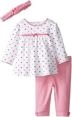 Little Me Baby Girls' Tunic and Leggings Set My Baby Girl, Baby Girl Newborn, Baby Girls, Baby Girl Dress Patterns, Baby Dress Design, Kids Outfits Girls, Boy Outfits, Toddler Fashion, Kids Fashion