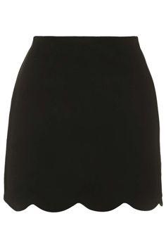 Scallop Hem Mini Skirt