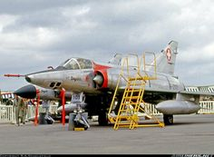 Swiss-built reconnaissance Mirage IIIRS exhibited at the 1965 Paris Air Show. - Photo taken at Paris - Le Bourget (LBG / LFPB) in France on June Swiss Air, Old Planes, Photo Search, Air Show, Switzerland, Air Force, Fighter Jets, Aviation, Aircraft