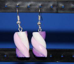 Handmade Polymer Clay Marshmallow Earrings 3 by PurpleCatShop
