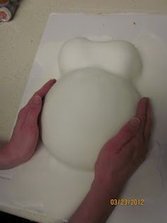 How to make a Pregnant Belly Cake for Showers