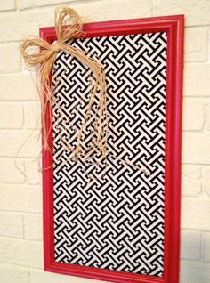 Framed Fabric Covered Memo Board by MarloCustomCreations on Etsy, $24.00