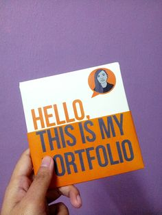 Mini portfolio made for interview purposes. Matt laminated art paper with art paper for the holder.
