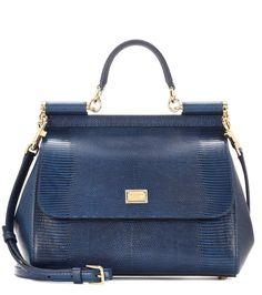 Dolce & Gabbana Sicily embossed leather shoulder bag