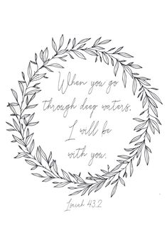 Scripture Printables // Isaiah 43,2 // Made by Betynka Kachips // Free Download