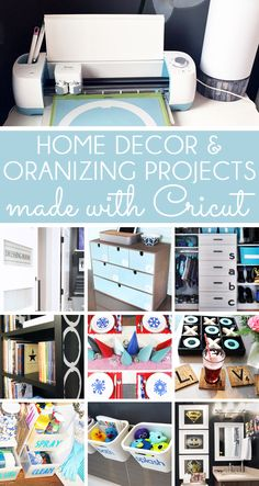 Learn to Use the Cricut for Home Decor & Organizing. Find lots of Cricut home decor ideas, Ciruct organizing projects, Cricut how to tutorials, as well as Cricut craft and gift ideas.