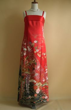 カラードレス   着物ドレス 和ドレス 着物リメイク オーダードレス -YOKO YOSHIOKA-