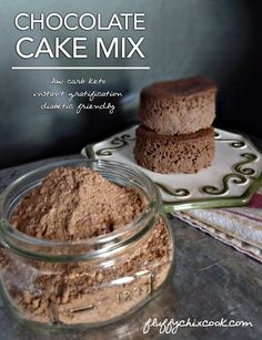 Low Carb Keto Chocolate Cake Mix by Fluffy Chix Cook, makes near-instant individual chocolate cakes--better than Easy Bake Ovens!