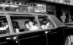 The Beatles leaving for Shea Stadium, August 1965