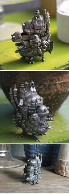 Howl's moving castle pewter miniature