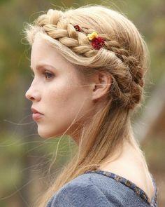 French braid as a crown