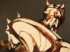 Artist Run Website - Error Error A30, Ink Art, Art Work, Landscape, Artist, Painting, Coffee, Home Decor, Horses