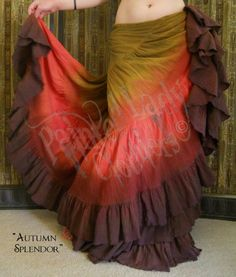 """""""Autumn Splendor"""" 25 Yard Petticoat Skirt.  You can order yours or create your own color combo here:  http://www.paintedladyemporium.com/Shop-Here.html"""
