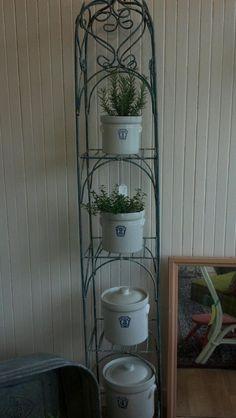 Lovely plant iron etagere