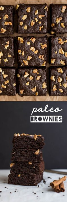 Spiced Paleo Brownies - super easy dessert that's naturally sweetened and gluten free! by Lisa Lin of healthynibblesand...