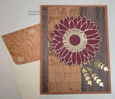 Specialty Paper, Fall Cards, Card Making, Merry, Paper Crafts, Tapestry, Stamp, Texture, Sunflowers