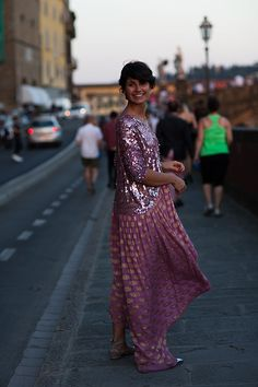 YES YES YES!!! // late evening sparkle in Florence // scott schuman