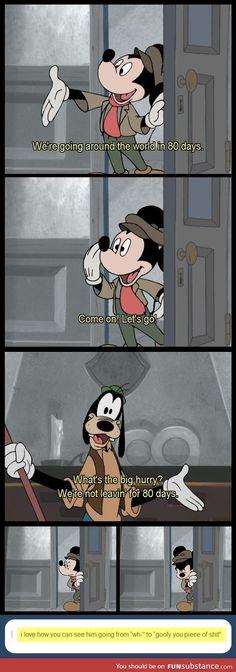Mickey has had enough