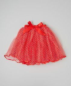 Take a look at this Red & White Polka Dot Tutu - Infant & Toddler by Hush Little Baby on #zulily today!