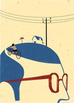 Beautiful and almost minimal illustrations by the Italian illustrator Alessandro Gottardo. Art And Illustration, Illustration Design Graphique, Art Graphique, Illustrations And Posters, Plakat Design, Grafik Design, Art Design, Mail Art, Illustrators