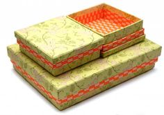 Riie Elise Larsen boxes Paper Goods, Orange, Decorative Boxes, Packaging, My Love, Design, Paper, New Ideas, Yellow
