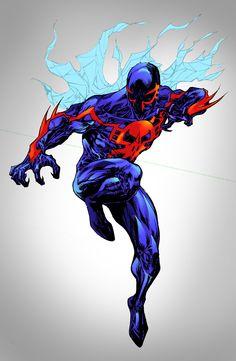 Spider-Man 2099 - shatteredweb colors by SpiderGuile.deviantart.com on @deviantART