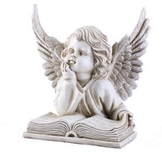 Napco Angel With Book Garden Statue, 8-1/4-Inch Tall by Napco. $29.99. Get 2 and use them as bookends. Crafted from resin for long lasting beauty indoors or out. 8-1/4-Inch tall. Statue depicts an Angel with an open book. Makes a lovely gift. Angel Statue reading a book makes a delightful addition to any decor indoors or out, buy 2 and use as bookends. Crafted from resin for long lasting beauty. Napco's Garden Statuary makes it easy to add art to your outdoor - or indoor - sp...