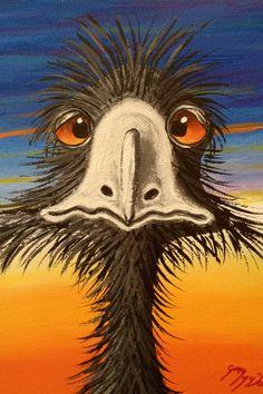 Emu from Marble Bar 20 x 26. 2013 Greg McDonald Artist. www.gregmacart.com