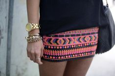 A little too short but I love the printed skirt!
