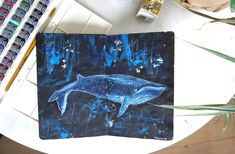 Illustrated whale