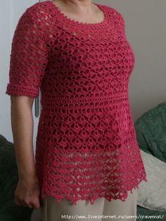 chart for crochet top