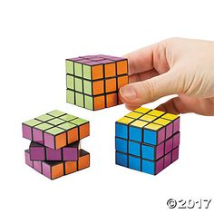 Mini Bright Magic Cubes - another throwback party favor.  Even though they were pastel, the guys played with them, too.