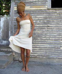 The Love Me 2 Times Short Wanderer Mullet Dress (organic hemp/cotton blend)